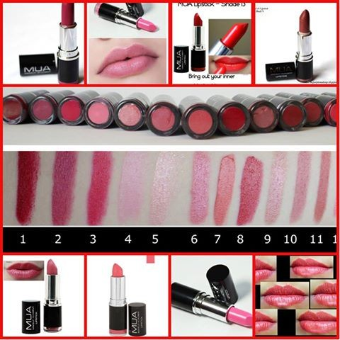 MUA LIPSTICKS  - Lip products (lipstick,gloss,stain etc.) at AsterVender